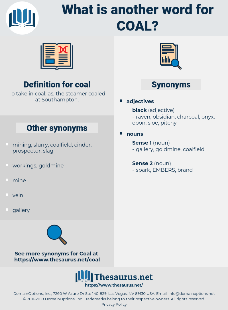 coal, synonym coal, another word for coal, words like coal, thesaurus coal