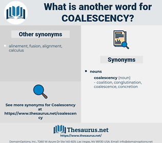 coalescency, synonym coalescency, another word for coalescency, words like coalescency, thesaurus coalescency
