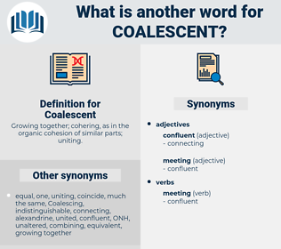 Coalescent, synonym Coalescent, another word for Coalescent, words like Coalescent, thesaurus Coalescent