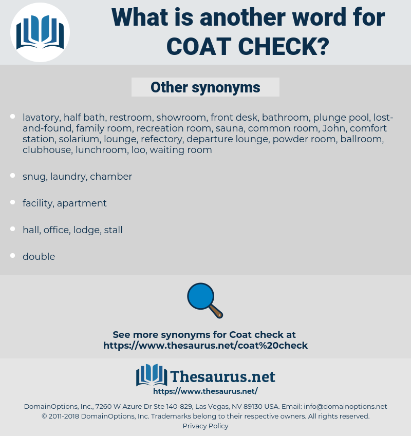 coat check, synonym coat check, another word for coat check, words like coat check, thesaurus coat check