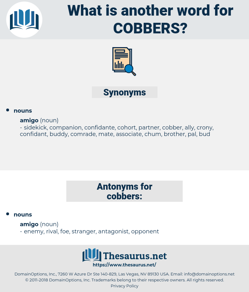 cobbers, synonym cobbers, another word for cobbers, words like cobbers, thesaurus cobbers