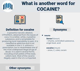 cocaine, synonym cocaine, another word for cocaine, words like cocaine, thesaurus cocaine