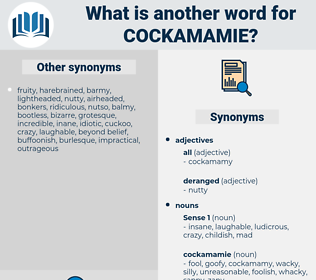 cockamamie, synonym cockamamie, another word for cockamamie, words like cockamamie, thesaurus cockamamie