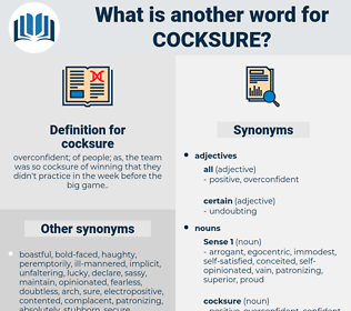 cocksure, synonym cocksure, another word for cocksure, words like cocksure, thesaurus cocksure