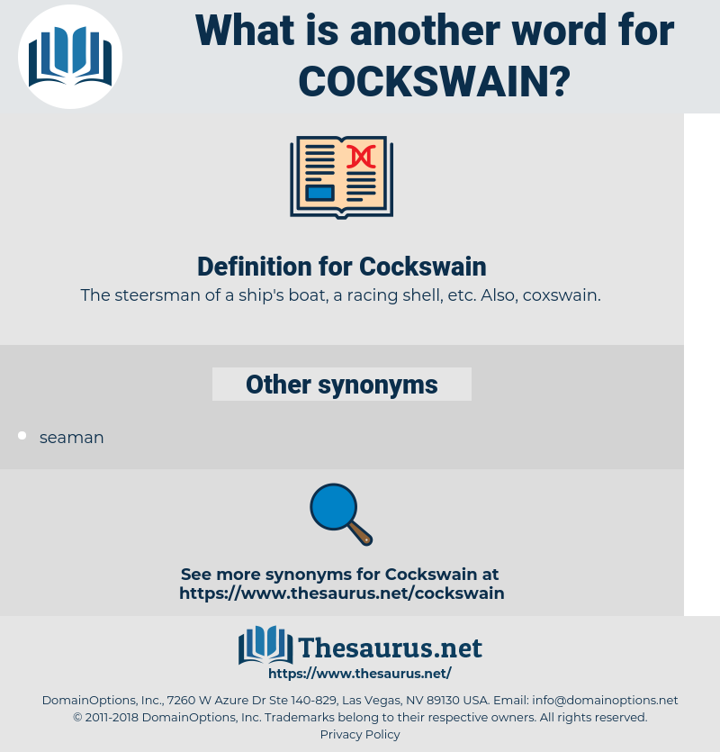 Cockswain, synonym Cockswain, another word for Cockswain, words like Cockswain, thesaurus Cockswain