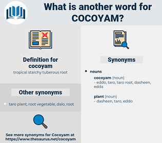 cocoyam, synonym cocoyam, another word for cocoyam, words like cocoyam, thesaurus cocoyam