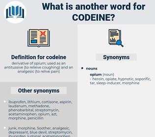 codeine, synonym codeine, another word for codeine, words like codeine, thesaurus codeine