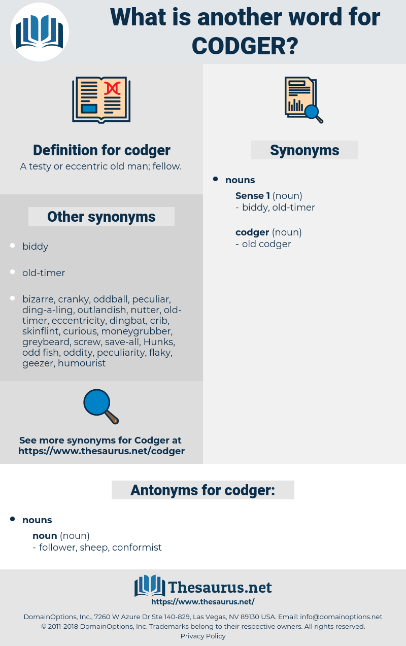 codger, synonym codger, another word for codger, words like codger, thesaurus codger