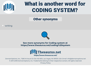coding system, synonym coding system, another word for coding system, words like coding system, thesaurus coding system