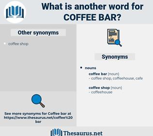 coffee bar, synonym coffee bar, another word for coffee bar, words like coffee bar, thesaurus coffee bar