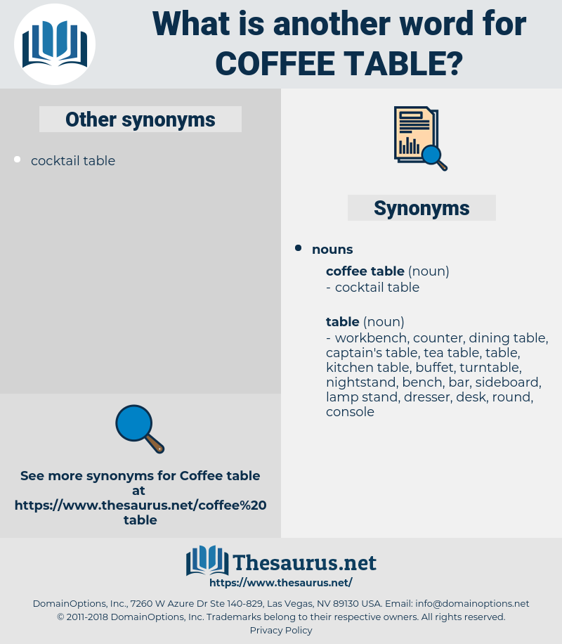Synonyms For Coffee Table Thesaurus Net