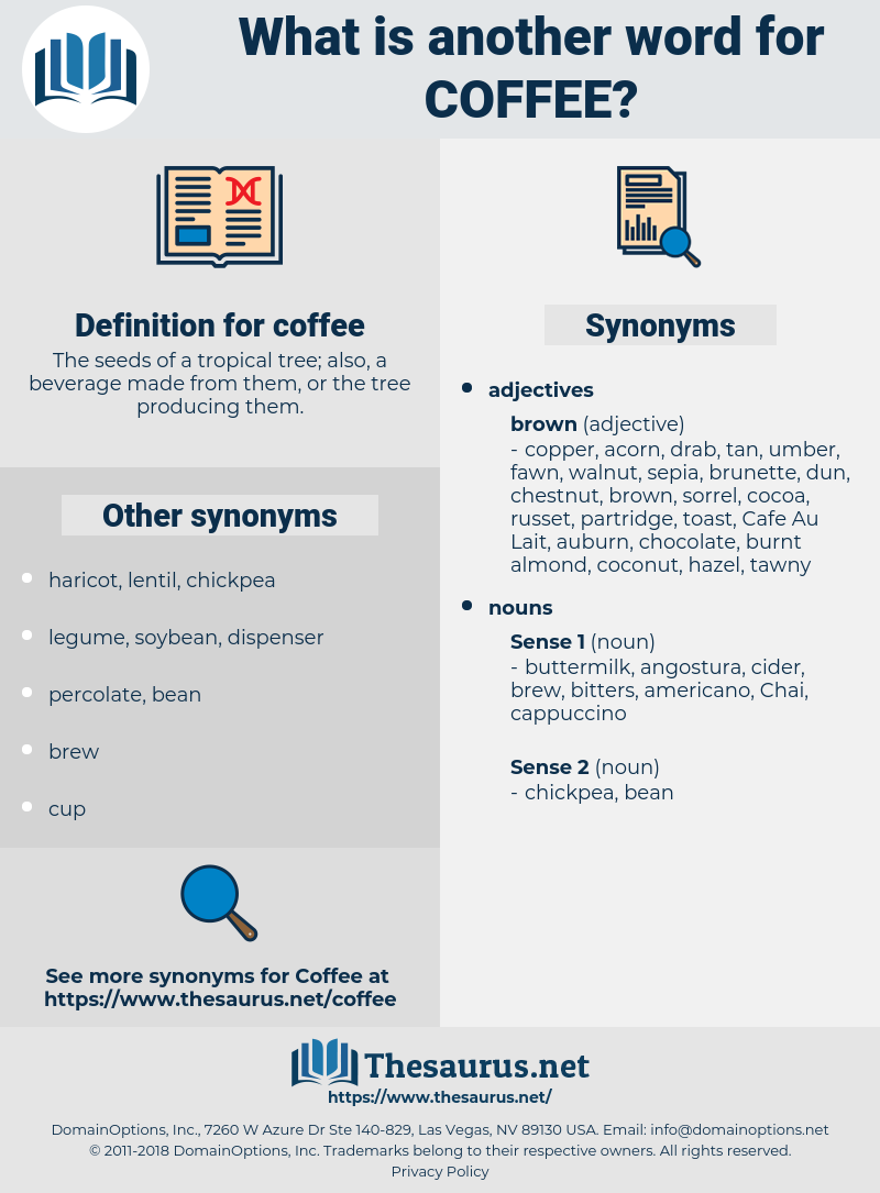 coffee, synonym coffee, another word for coffee, words like coffee, thesaurus coffee