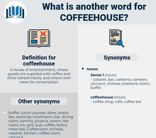 coffeehouse, synonym coffeehouse, another word for coffeehouse, words like coffeehouse, thesaurus coffeehouse