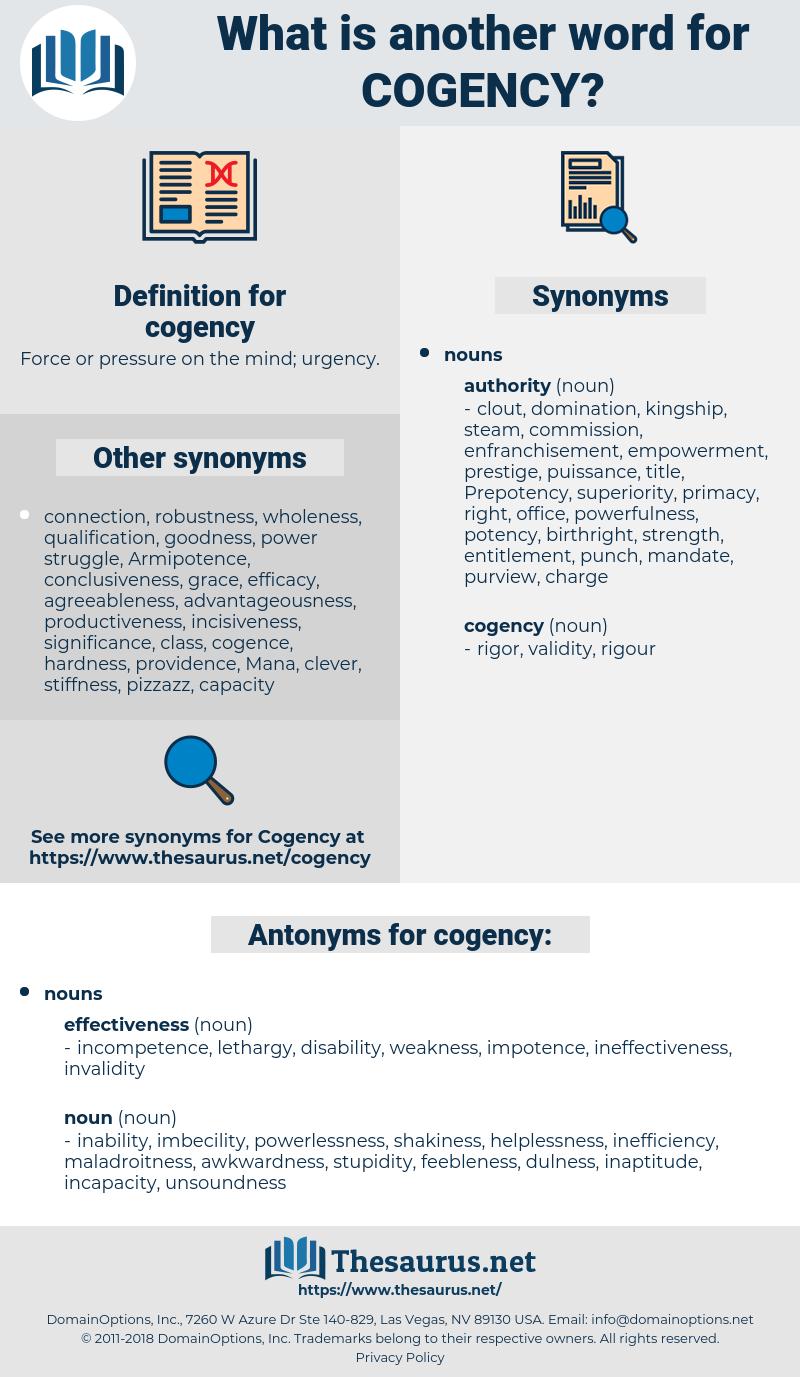 cogency, synonym cogency, another word for cogency, words like cogency, thesaurus cogency