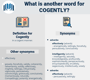 Cogently, synonym Cogently, another word for Cogently, words like Cogently, thesaurus Cogently