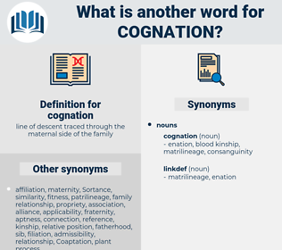 cognation, synonym cognation, another word for cognation, words like cognation, thesaurus cognation
