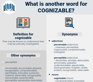 cognizable definition