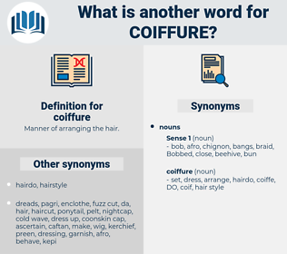 coiffure, synonym coiffure, another word for coiffure, words like coiffure, thesaurus coiffure