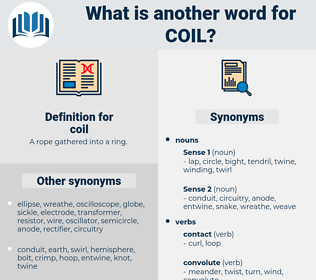 coil, synonym coil, another word for coil, words like coil, thesaurus coil