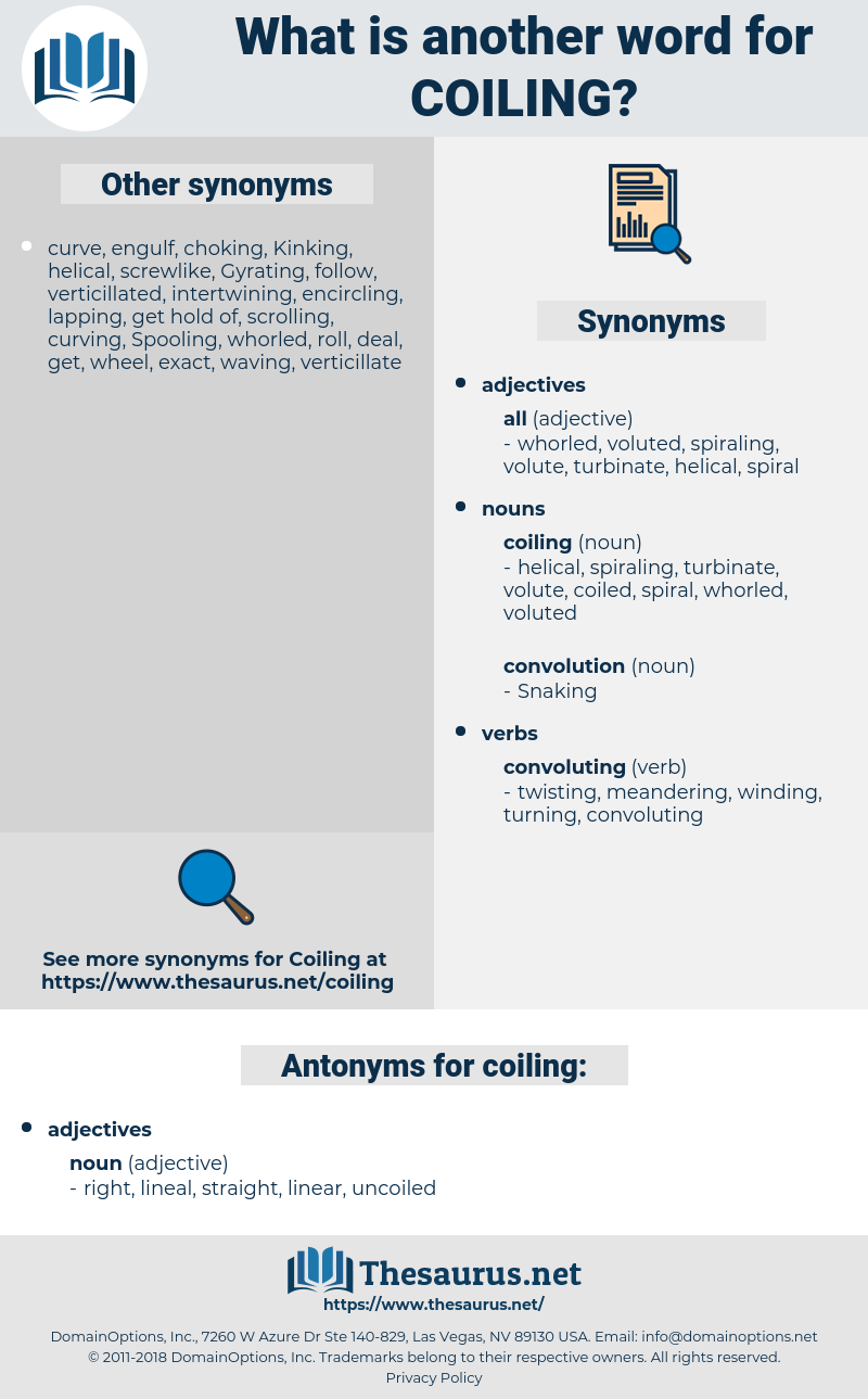 coiling, synonym coiling, another word for coiling, words like coiling, thesaurus coiling