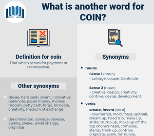 coin, synonym coin, another word for coin, words like coin, thesaurus coin