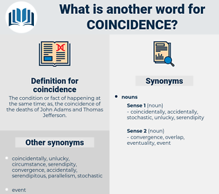coincidence, synonym coincidence, another word for coincidence, words like coincidence, thesaurus coincidence
