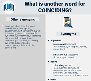 coinciding, synonym coinciding, another word for coinciding, words like coinciding, thesaurus coinciding