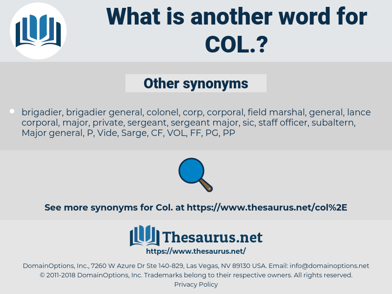 col, synonym col, another word for col, words like col, thesaurus col