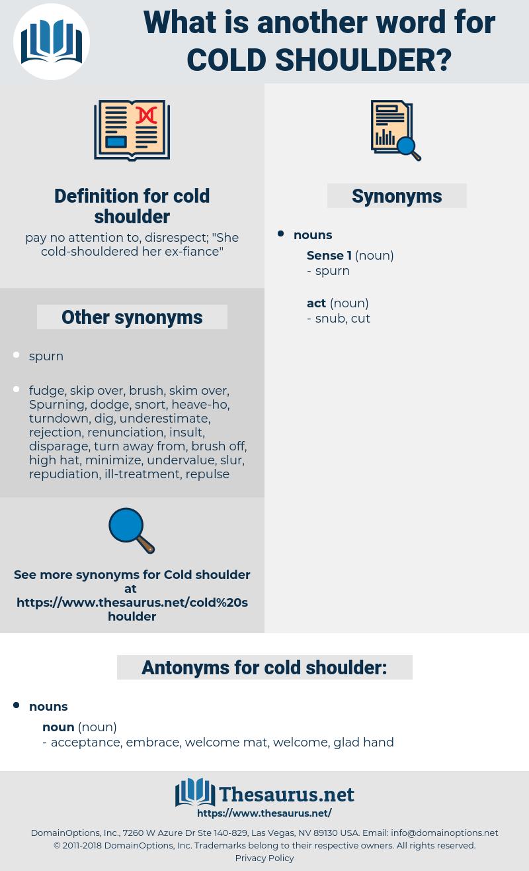 cold shoulder, synonym cold shoulder, another word for cold shoulder, words like cold shoulder, thesaurus cold shoulder