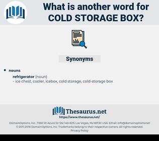 cold storage box, synonym cold storage box, another word for cold storage box, words like cold storage box, thesaurus cold storage box