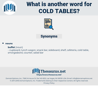 cold tables, synonym cold tables, another word for cold tables, words like cold tables, thesaurus cold tables