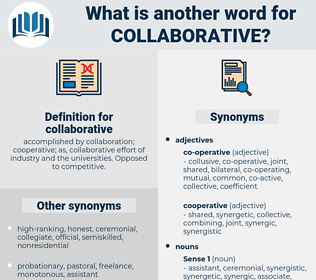 collaborative, synonym collaborative, another word for collaborative, words like collaborative, thesaurus collaborative