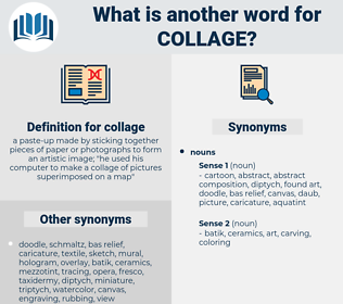 collage, synonym collage, another word for collage, words like collage, thesaurus collage