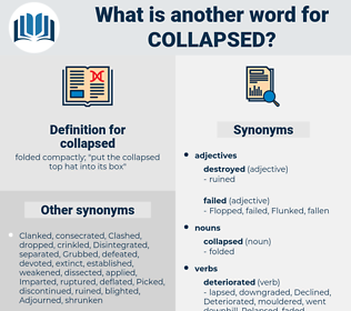collapsed, synonym collapsed, another word for collapsed, words like collapsed, thesaurus collapsed