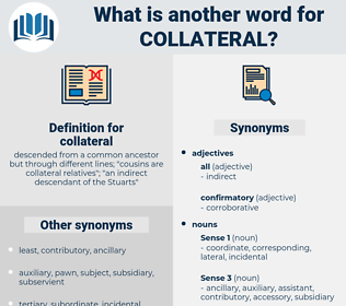 collateral, synonym collateral, another word for collateral, words like collateral, thesaurus collateral