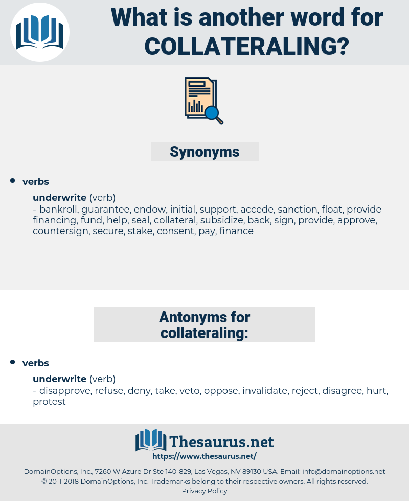 collateraling, synonym collateraling, another word for collateraling, words like collateraling, thesaurus collateraling