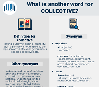 collective, synonym collective, another word for collective, words like collective, thesaurus collective