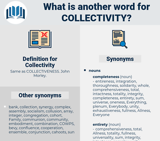 Collectivity, synonym Collectivity, another word for Collectivity, words like Collectivity, thesaurus Collectivity