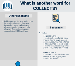 collects, synonym collects, another word for collects, words like collects, thesaurus collects