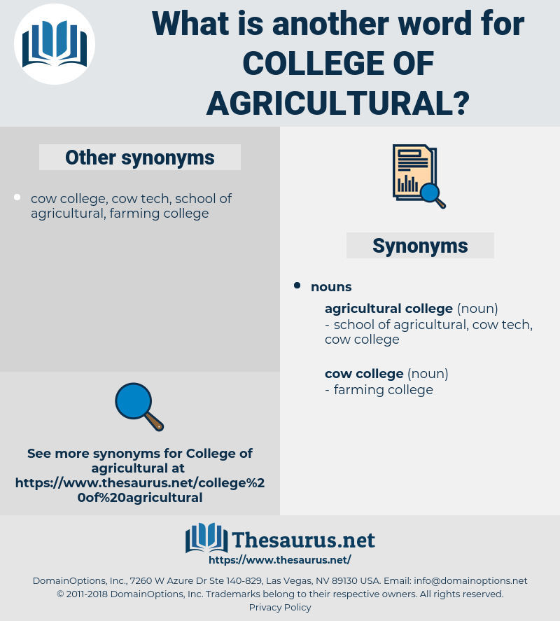 college of agricultural, synonym college of agricultural, another word for college of agricultural, words like college of agricultural, thesaurus college of agricultural