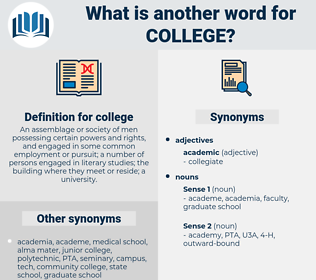 college, synonym college, another word for college, words like college, thesaurus college