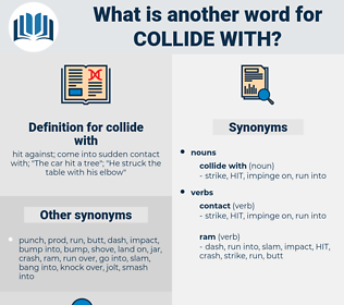 collide with, synonym collide with, another word for collide with, words like collide with, thesaurus collide with