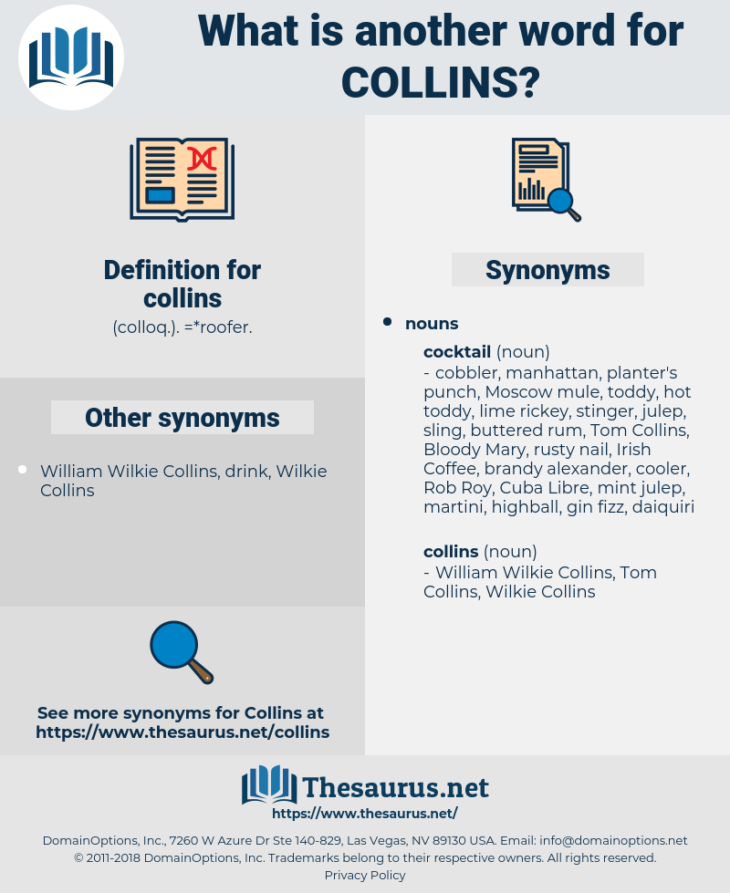 collins, synonym collins, another word for collins, words like collins, thesaurus collins