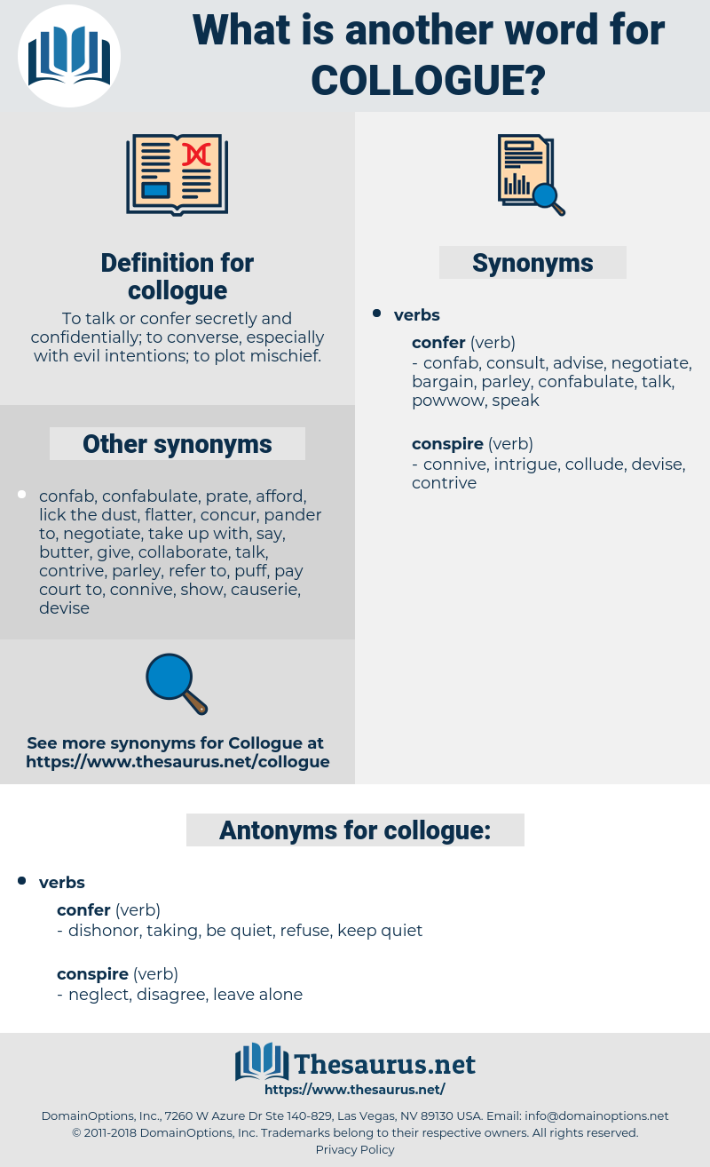 collogue, synonym collogue, another word for collogue, words like collogue, thesaurus collogue