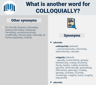 colloquially, synonym colloquially, another word for colloquially, words like colloquially, thesaurus colloquially