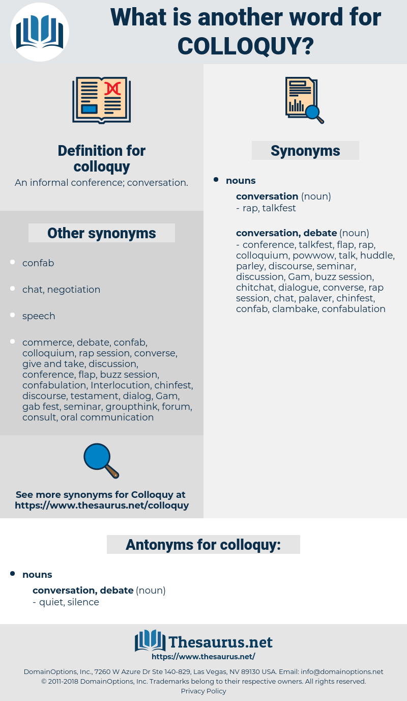 colloquy, synonym colloquy, another word for colloquy, words like colloquy, thesaurus colloquy