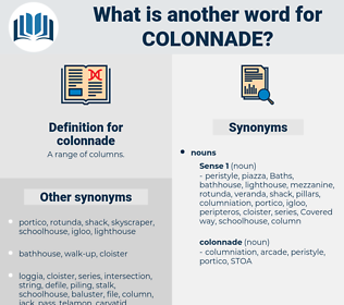 colonnade, synonym colonnade, another word for colonnade, words like colonnade, thesaurus colonnade