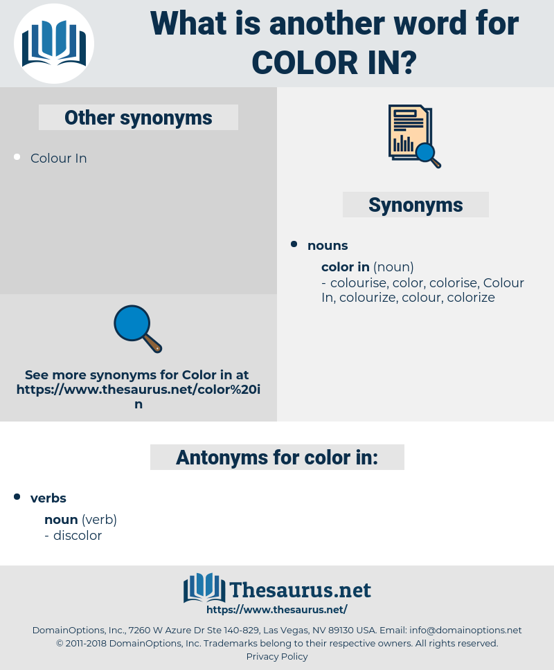 color in, synonym color in, another word for color in, words like color in, thesaurus color in
