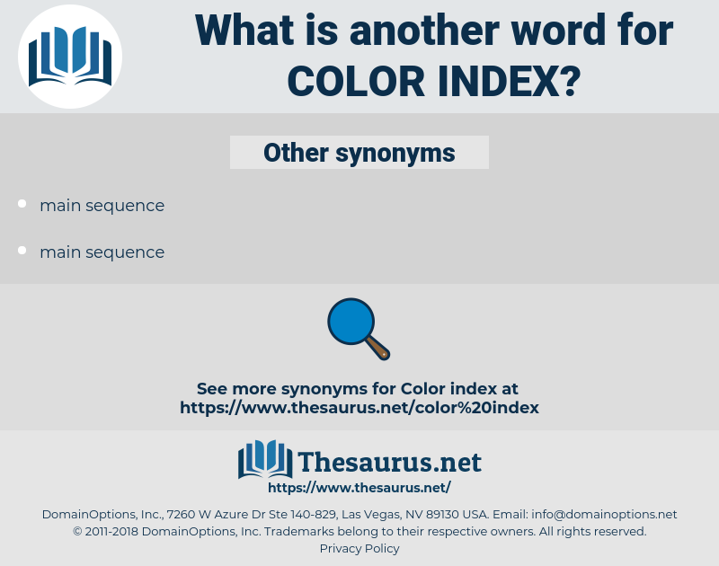 color index, synonym color index, another word for color index, words like color index, thesaurus color index