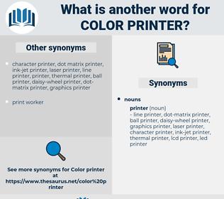 color printer, synonym color printer, another word for color printer, words like color printer, thesaurus color printer